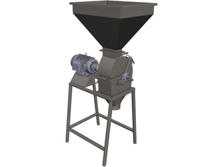 Grain Crusher CAD 3D Model
