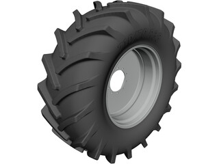 Tractor Wheel 710-70 R38 - MB10 CAD 3D Model