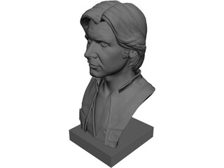 Han Solo Bust 3D Model 3D Preview