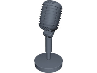 Shure 55 Microphone 3D Model