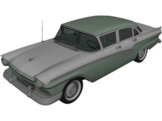 Ford Custom Fordor (1957) 3D Model