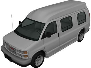 GMC Savana (1997) 3D Model