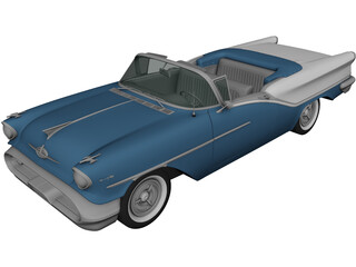 Oldsmobile Starfire 98 Convertible (1957) 3D Model