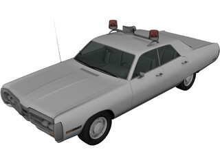 Plymouth Fury Police (1967) 3D Model