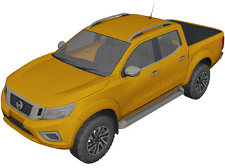 Nissan Frontier/Navara (2019) 3D Model 3D Preview