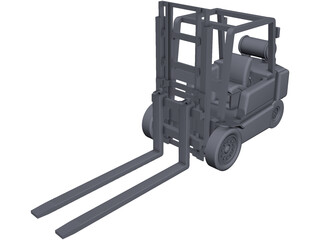 Forklift CAD 3D Model