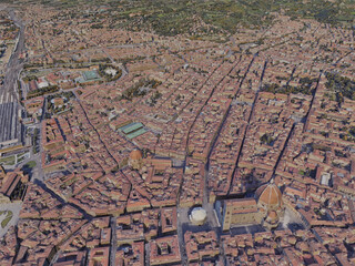 Florence City, Italy 3D Model