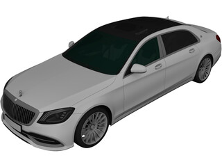 Mercedes-Maybach S650 [W222] 3D Model