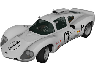 Chaparral 2D Race Car (1966) 3D Model