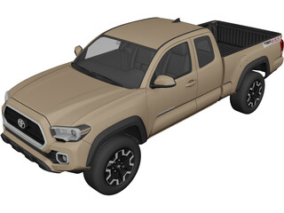 Toyota Tacoma TRD (2016) 3D Model 3D Preview