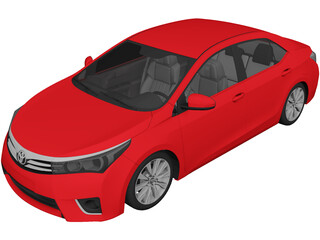 Toyota Corolla (2016) 3D Model