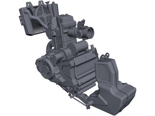 Bajaj Pulsar Engine CAD 3D Model