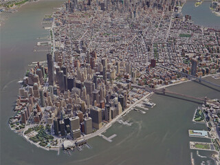 New York City, Manhattan, USA (2019) 3D Model