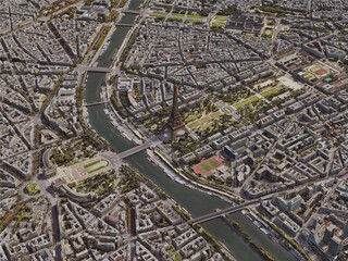 Paris City, France [24M] (2019) 3D Model