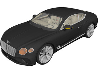 Bentley Continental GT (2019) 3D Model