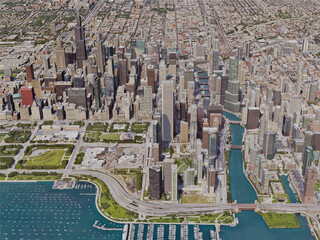 Chicago City, USA (2019) 3D Model