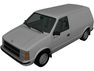 Dodge Mini Ram Van (1984) 3D Model