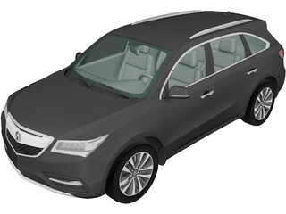 Acura MDX (2014) 3D Model 3D Preview