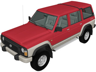Nissan Patrol 5-door [Y60] (1987) 3D Model