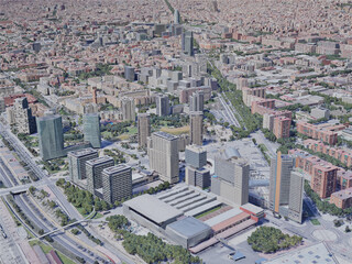 Barcelona City, Spain (2019) 3D Model