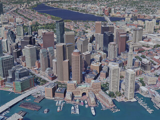 Boston City, MA, USA (2019) 3D Model