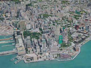 Hong Kong City, China (2019) 3D Model