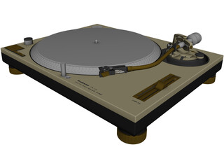 Technics SL-1200MK2 Turntable 3D Model