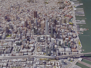 San Francisco City Downtown, CA, USA (2019) 3D Model