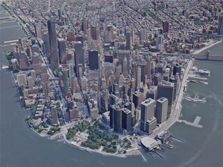New York City, Lower Manhattan, USA (2019) 3D Model