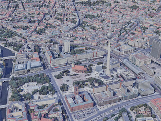 Berlin City, Germany (2019) 3D Model