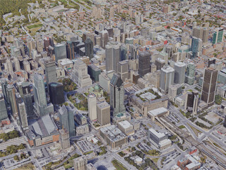 Montreal City, QC, Canada (2019) 3D Model