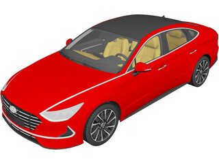 Hyundai Sonata (2020) 3D Model