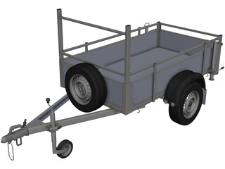Small Load Trailer CAD 3D Model
