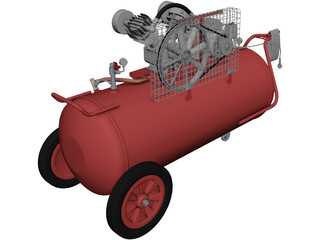 Air Compressor CAD 3D Model