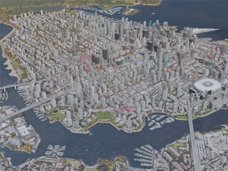 Vancouver City, BC, Canada (2019) 3D Model