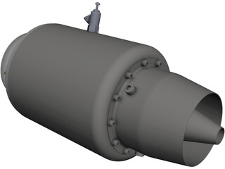 Jet Engine 18kg Force CAD 3D Model