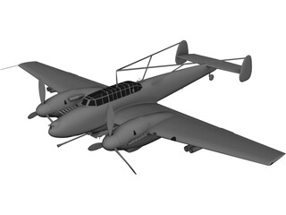 Messerschmitt BF-110 G-2 3D Model