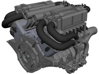 Bugatti Veyron W16 Engine CAD 3D Model