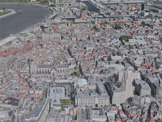 Antwerp City, Belgium (2019) 3D Model
