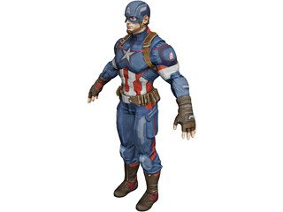 Capitan America Age of Ultron 3D Model