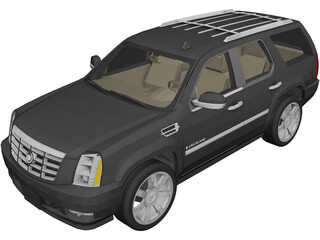 Cadillac Escalade (2008) 3D Model