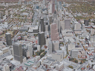 Atlanta City, GA, USA (2019) 3D Model