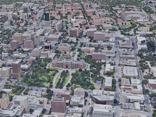 Austin City, TX, USA (2019) 3D Model