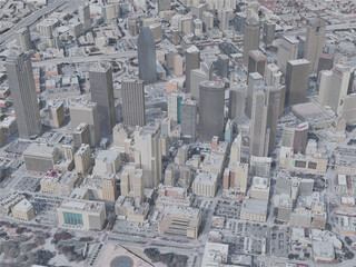 Dallas City, TX, USA (2019) 3D Model