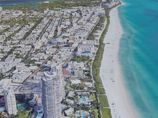 Miami Beach, FL, USA (2019) 3D Model