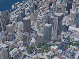 Seattle City, WA, USA (2019) 3D Model