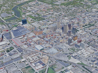 Indianapolis City, IN, USA (2019) 3D Model