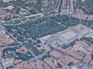 Madrid City, Spain (2019) 3D Model