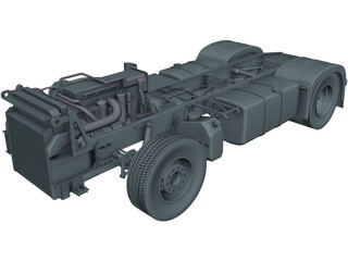 Euro Truck Chassis CAD 3D Model