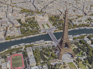 Paris City, France [53M] (2019) 3D Model